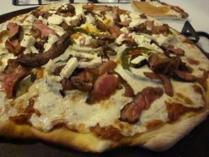 pepper steak pizza