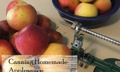 Canning Homemade Applesauce